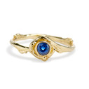 Sidney Sapphire Solitaire Ring by Olivia Ewing Jewelry