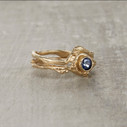 Bezel engagement ring by Olivia Ewing Jewelry