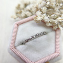 Women's silver wedding ring by Olivia Ewing Jewelry