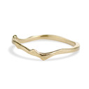 Curved wedding ring by Olivia Ewing Jewelry