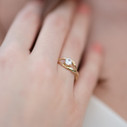 Diamond alternative engagement ring stone by Olivia Ewing Jewelry
