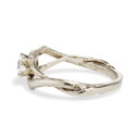 Split shank moissanite engagement ring for her by Olivia Ewing Jewelry