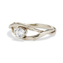 Moissanite engagement ring by Olivia Ewing Jewelry