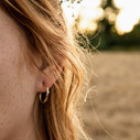 Nature inspired tree branch hoops by Olivia Ewing Jewelry