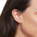 Earthy small hoops by Olivia Ewing Jewelry