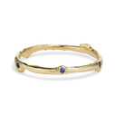 Delicate sapphire wedding ring by Olivia Ewing Jewelry