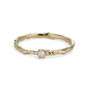 Brooks Rough Diamond Solitaire Ring by Olivia Ewing Jewelry