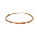 14K rose gold nature bangle by Olivia Ewing Jewelry