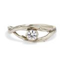 Unity Bezel Diamond Ring by Olivia Ewing Jewelry