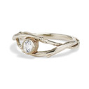 Twig engagement ring with diamond by Olivia Ewing Jewelry