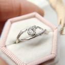 Entwined vine engagement ring with diamond by Olivia Ewing Jewelry