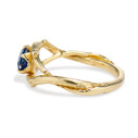 Earthy sapphire engagement ring by Olivia Ewing Jewelry