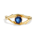 Large Unity Sapphire Solitaire Ring by Olivia Ewing Jewelry