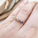 Rough Montana sapphire engagement ring inspired by nature by Olivia Ewing Jewelry