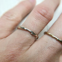 Delicate silver ring by Olivia Ewing Jewelry