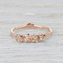 Garland Rough Diamond Four Stone Ring by Olivia Ewing Jewelry