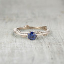 Aurora Sapphire Solitaire Ring by Olivia Ewing Jewelry