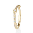 Twig wedding band with pave diamonds by Olivia Ewing Jewelry