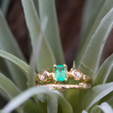 Diamond twig wedding band by Olivia Ewing Jewelry