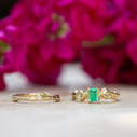 Nature themed wedding ring by Olivia Ewing Jewelry