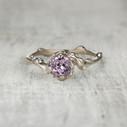 unique engagement ring pink sapphire