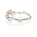 Curved wedding ring with diamonds by Olivia Ewing Jewelry