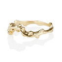 Customizable curved wedding ring by Olivia Ewing Jewelry