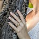 Earthy wedding band by Olivia Ewing Jewelry