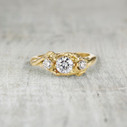 18K yellow gold diamond ring for nature-lover by Olivia Ewing Jewelry
