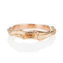 14K rose gold twisted twig wedding band by Olivia Ewing Jewelry