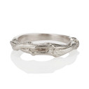 14K white gold twig cast wedding ring by Olivia Ewing Jewelry