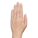 Women's wide wedding ring by Olivia Ewing Jewelry