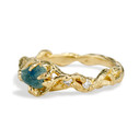 Rough uncut Montana sapphire ring by Olivia Ewing Jewelry