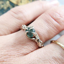 Rough Montana sapphire engagement ring by Olivia Ewing Jewelry