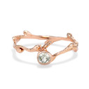 Rose Gold Montana sapphire Bezel engagement ring by Olivia Ewing Jewelry