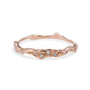 Naples Twisted Diamond Band by Olivia Ewing Jewelry