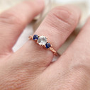 Sapphire engagement ring unique by Olivia Ewing Jewelry