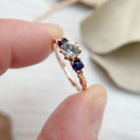 Unusual engagement ring by Olivia Ewing Jewelry