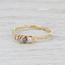 Rough cut diamond ring by Olivia Ewing Jewelry