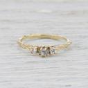 Naples Diamond Three Stone Ring by Olivia Ewing Jewelry