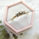 Earthy nature inspired diamond engagement ring by Olivia Ewing Jewelry