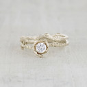 Earthy engagement ring set by Olivia Ewing Jewelry