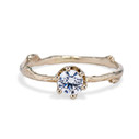 Garland Moissanite Solitaire Ring by Olivia Ewing Jewelry