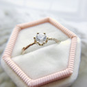 Moissanite twig ring by Olivia Ewing Jewelry