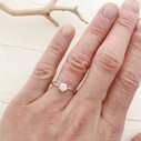 Unique handmade engagement ring by Olivia Ewing Jewelry