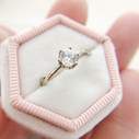 Unique diamond engagement ring by Olivia Ewing Jewelry