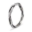 Sterling silver nature inspired wedding ring by Olivia Ewing Jewelry