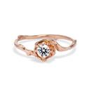 Petite Naples Diamond Solitaire Ring by Olivia Ewing Jewelry