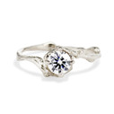 Platinum unique engagement ring by Olivia Ewing Jewelry