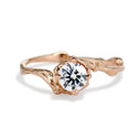 14K rose gold brilliant cut diamond solitaire ring by Olivia Ewing Jewelry